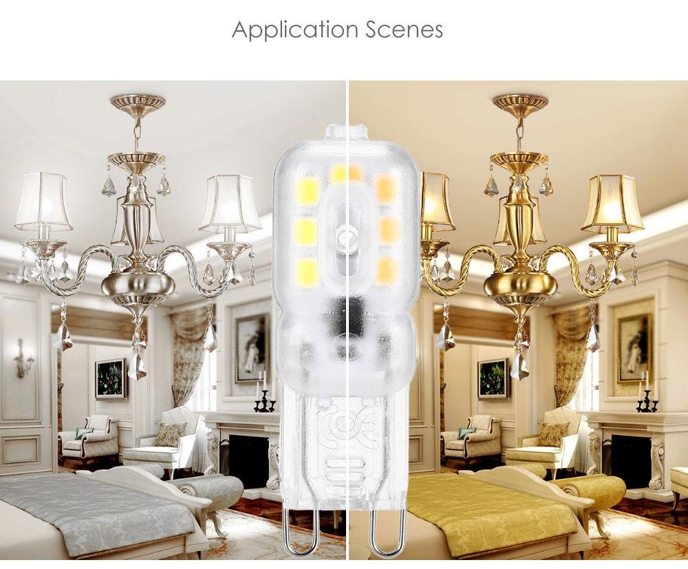 Lightme 10PCS G9 AC 110V 2W SMD 2835 LED Bulb Light Energy Saving Lamp with 14 LEDs