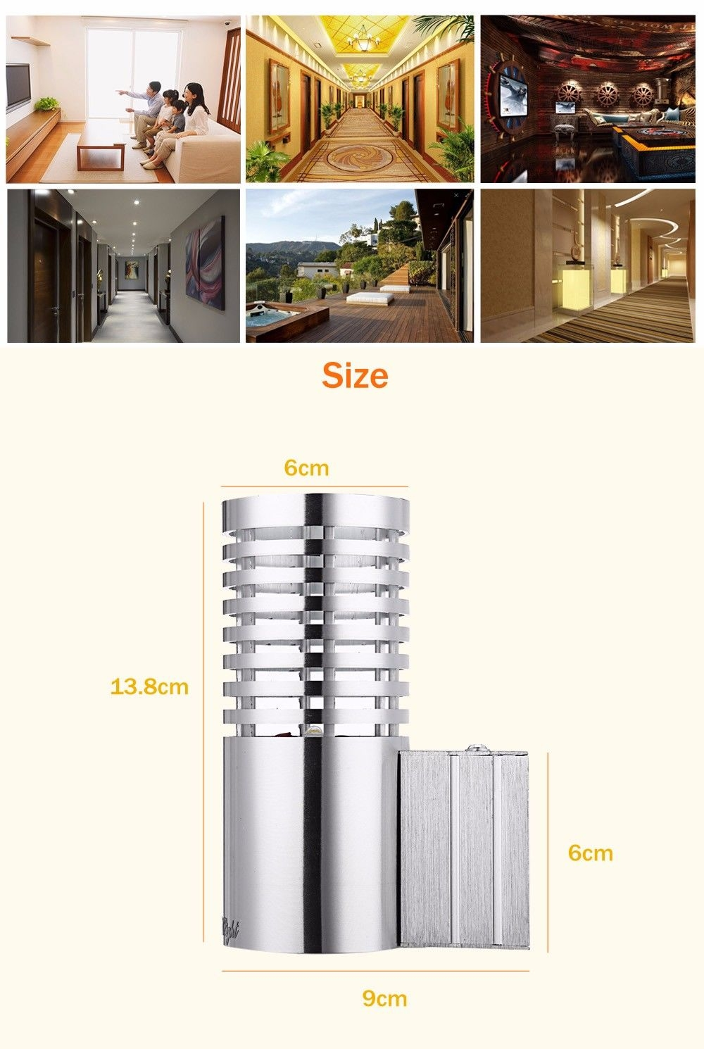 YouOKLight YK2240 Strip-type 1W 80LM LED Wall Lamp Bedroom Decorate Night Light