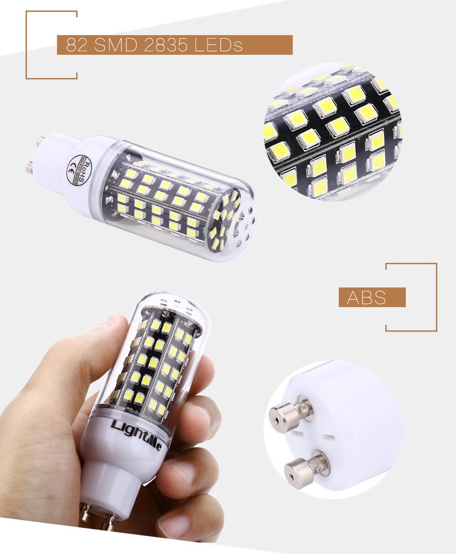 Lightme E27 AC 85 - 265V 5W 400LM SMD 2835 LED Corn Bulb Light Energy Saving Lamp with 82 LEDs