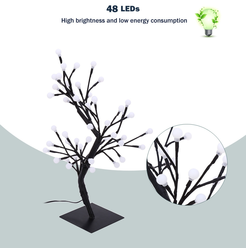2W 48 LEDs Round Tree Light Decoration Night Lamp for Home