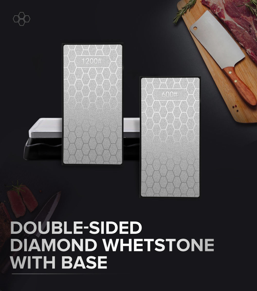 DMD Professional Double-sided Diamond Whetstone Knife Sharpener Kitchen Tools