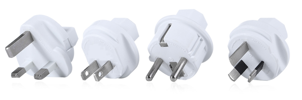Allocacoc 4 Travel Plugs PowerCube Power Socket 4 Outlets 2 USB Ports Adapter
