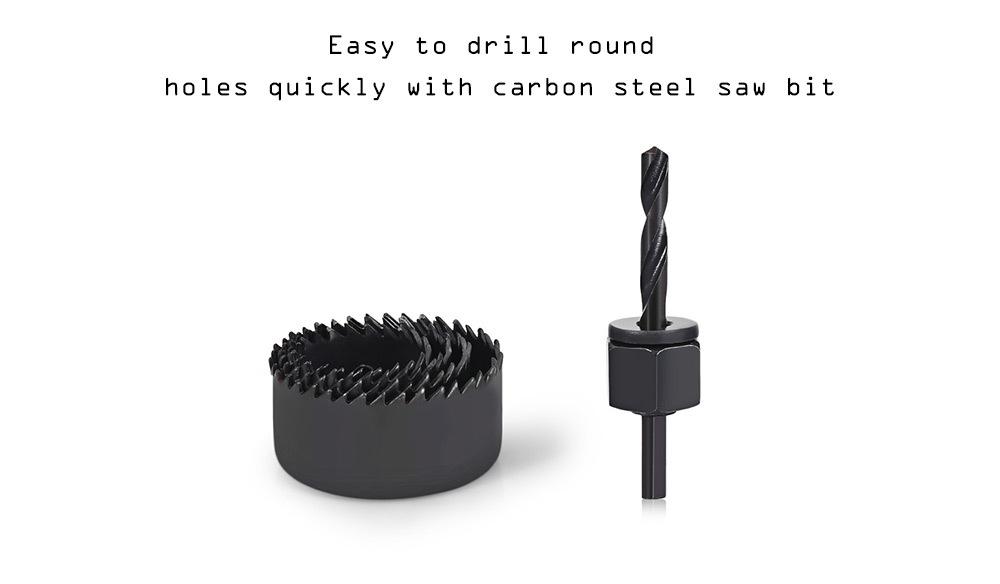 32 - 54mm 4pcs Carbon Steel Hole Saw DIY Woodworking Drill Bit