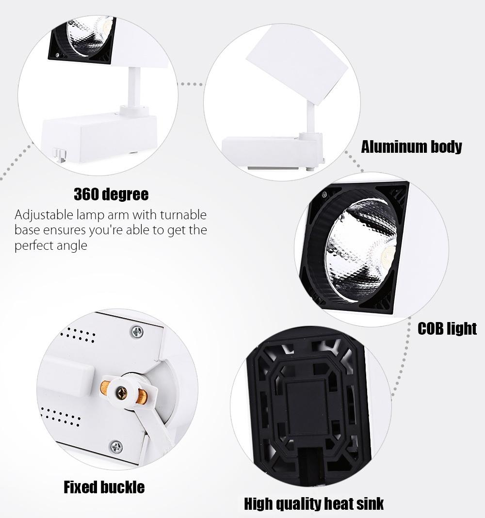 AC 85 - 265V 20W 2000LM COB LED Spotlight Track Lamp Clothing Store Ceiling Wall Light