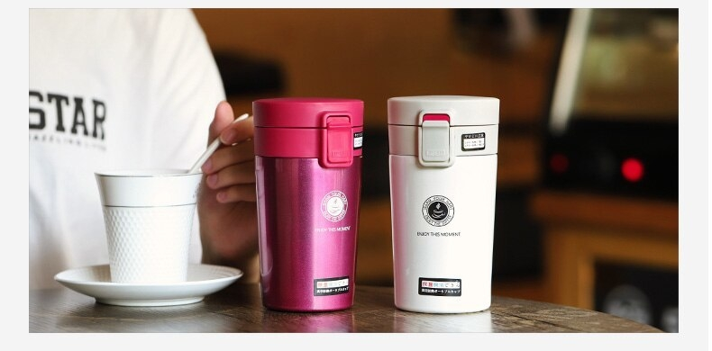 Cute Thermose Cup Thermal Bottle for coffee Vacuum Flasks Cafe Thermose hand touch stainless steel (21)