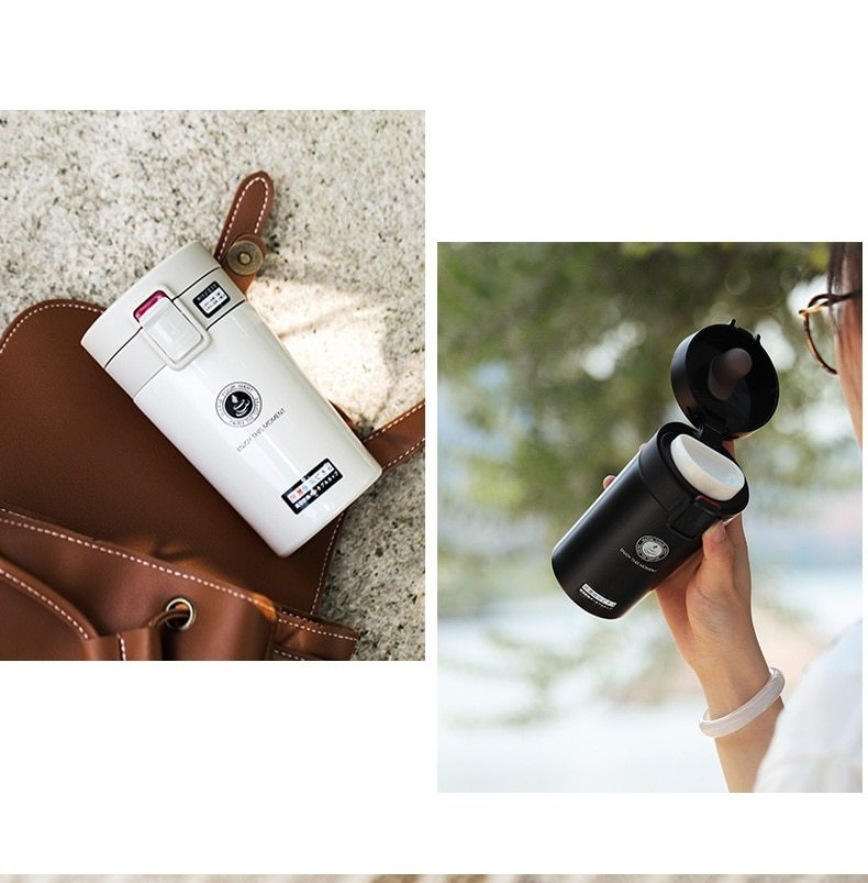 Cute Thermose Cup Thermal Bottle for coffee Vacuum Flasks Cafe Thermose hand touch stainless steel (14)