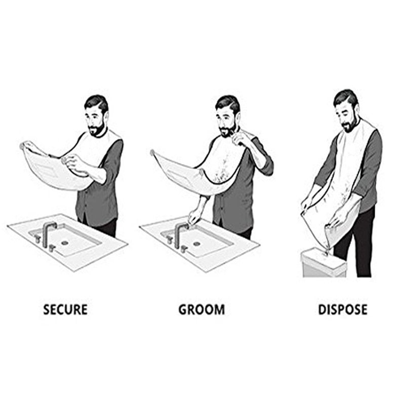 Pongee-Beard-Care-Shave-Apron-Bib-Trimmer-Clean-Facial-Hair-Cape-Sink-Bathroom-Shelves-Waterproof-Floral (2)