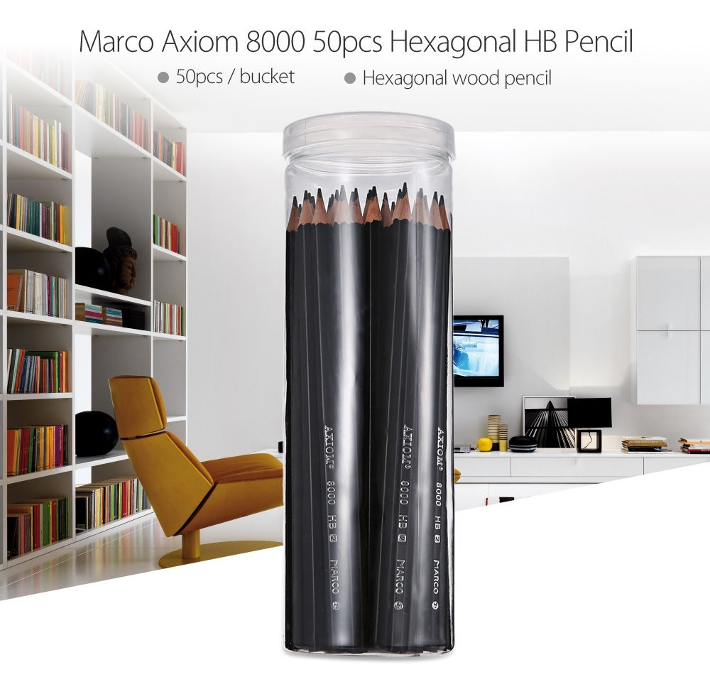 Marco Axiom 8000 50pcs Hexagonal HB Pencil for School Office Supplies