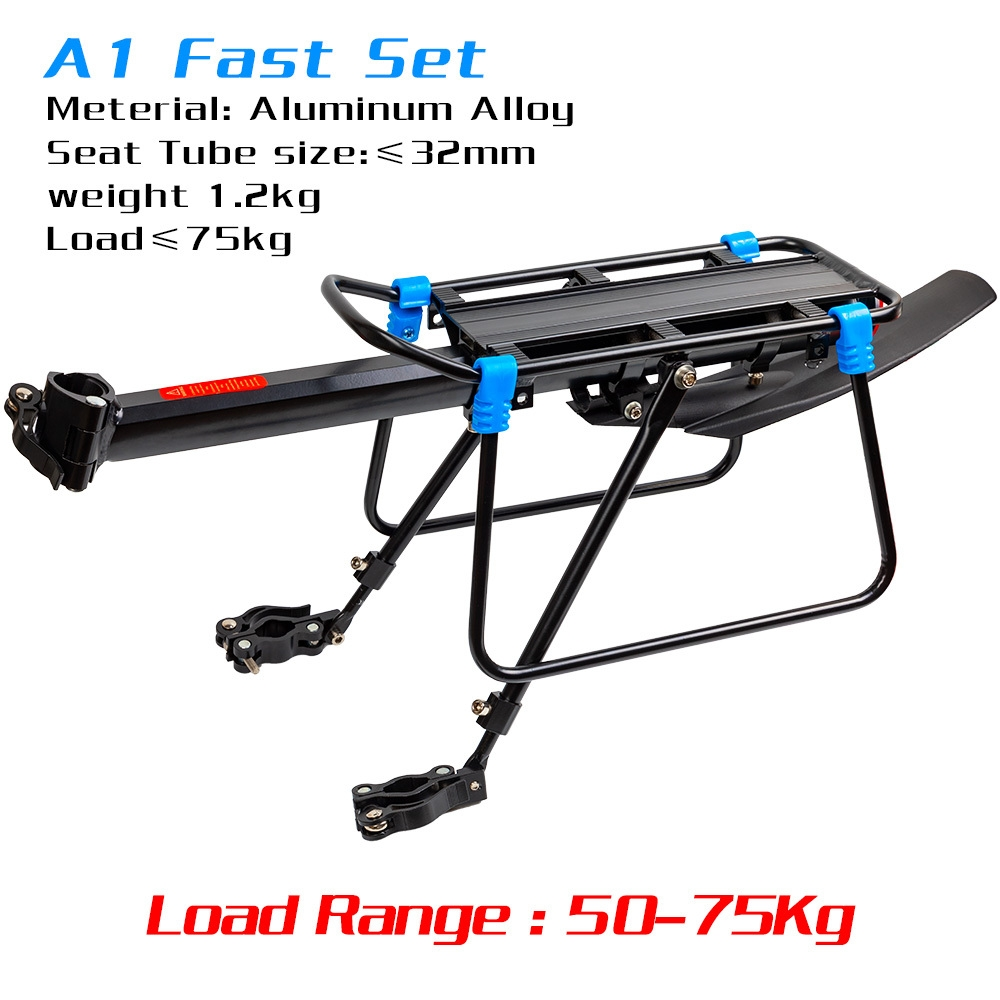 Bicycle Rear Seat Rack Bike Luggage Carrier Cargo Frame Access Bag Carrier