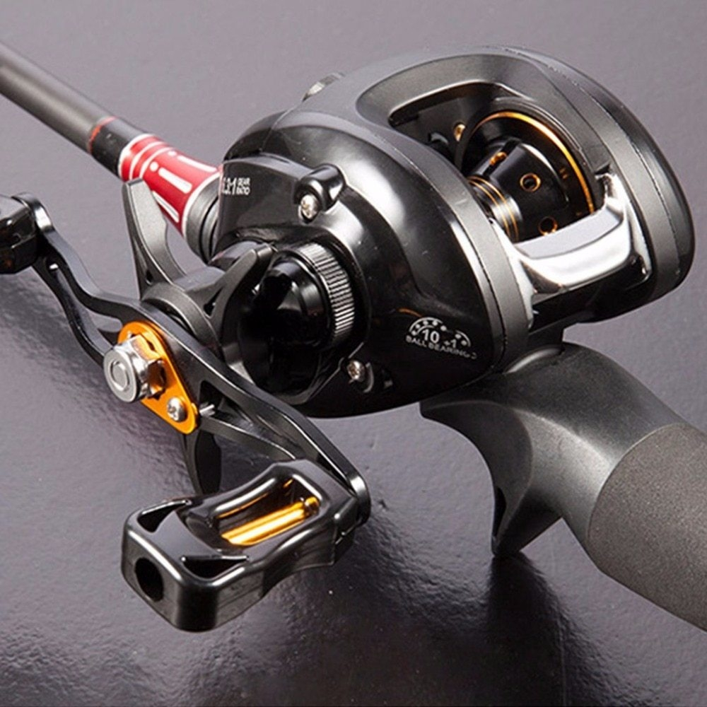 12+1BB G-ratio 6.3:1 Baitcasting Reel Boat Bait Casting Fishing Reels With Magnet Brake Pesca 2018 Dropshipping