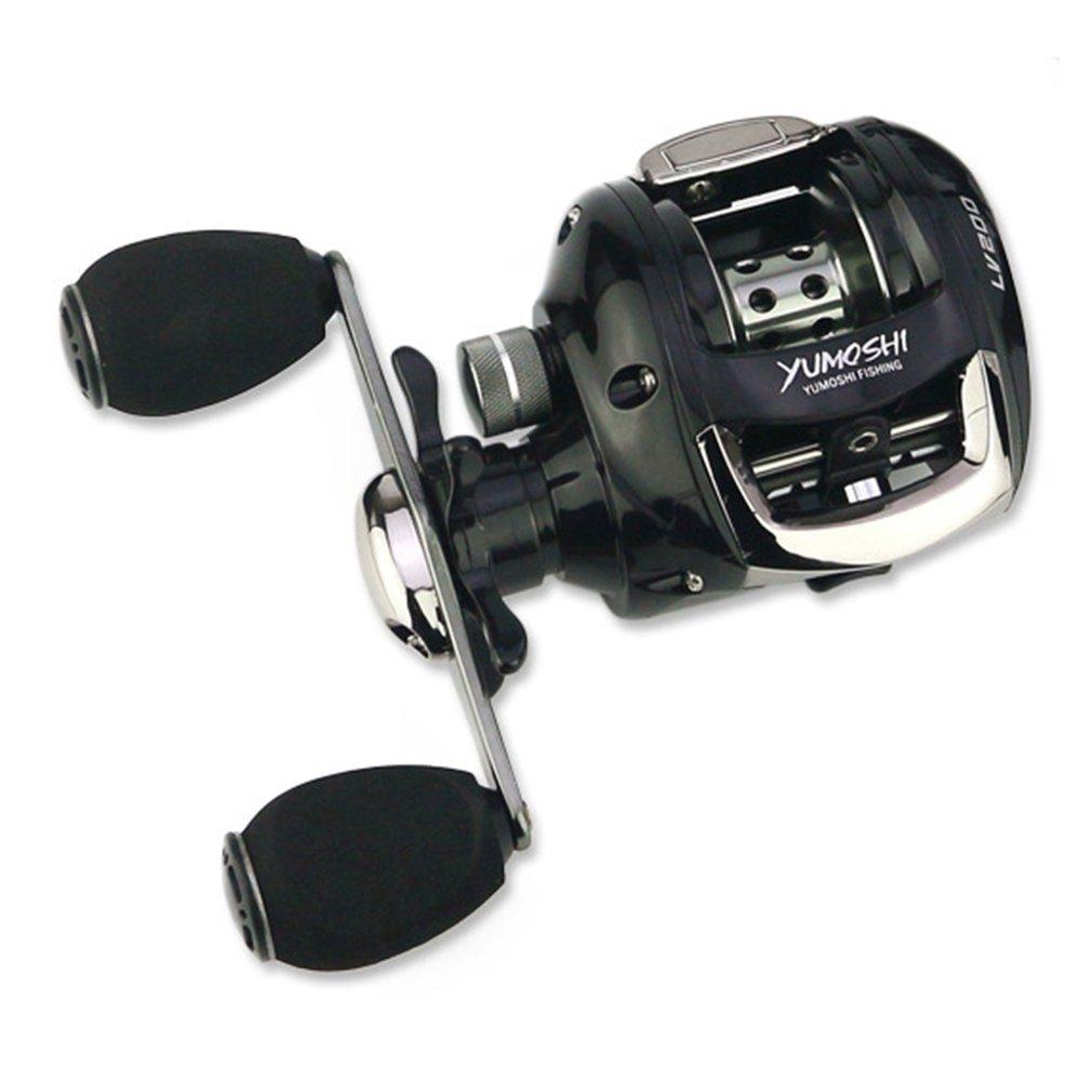 YUMOSHI Fishing Reels 12+1 Ball Bearings 6.2:1 Speed Ratio Baitcasting Fishing Reel with Magnet Brake System LV200 Water Drop