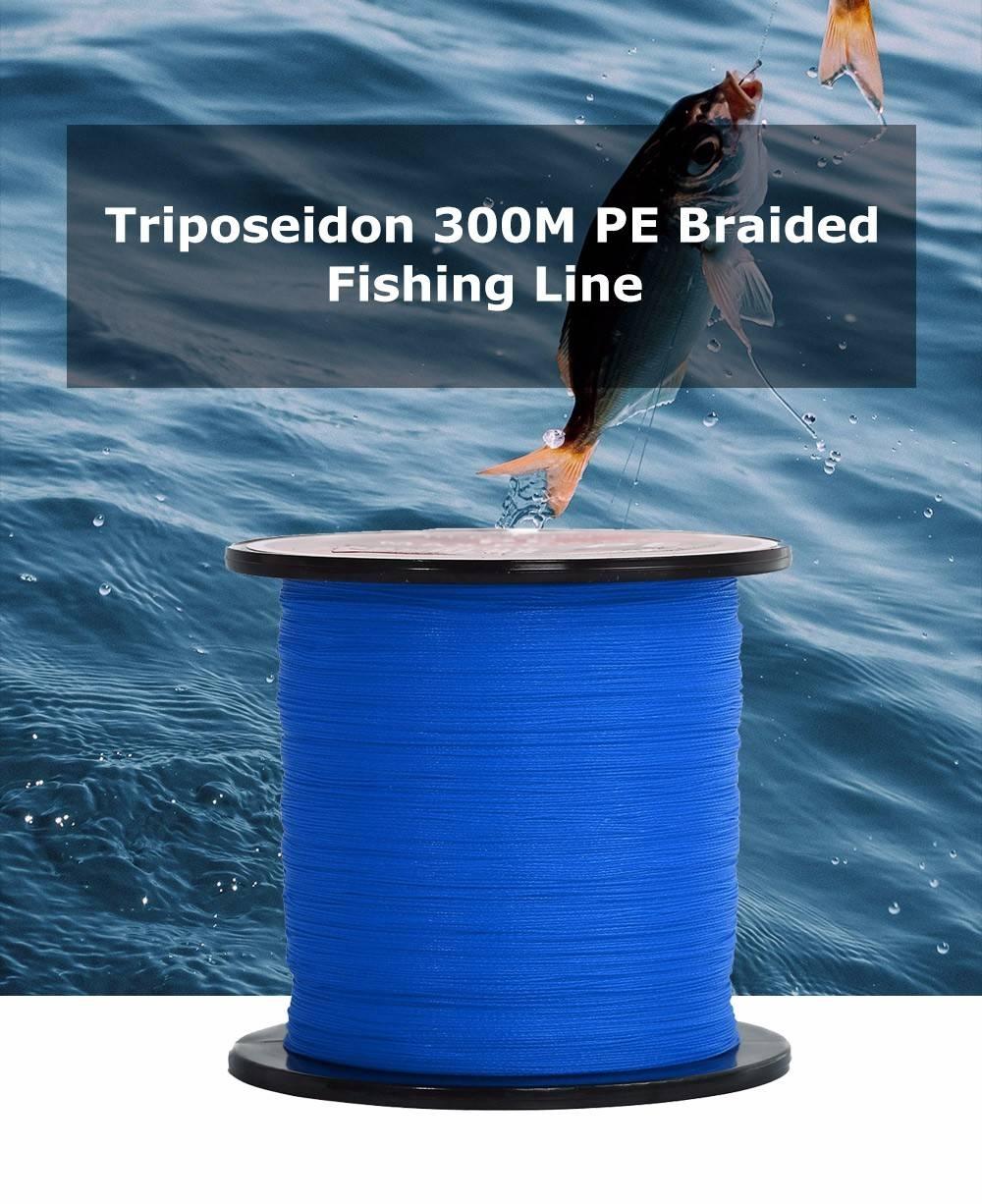 Triposeidon 300M Super Strong PE Braided Fishing Line 8 - 60 LB