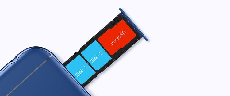 Honor 7A Dual SIM and SD Card Slot