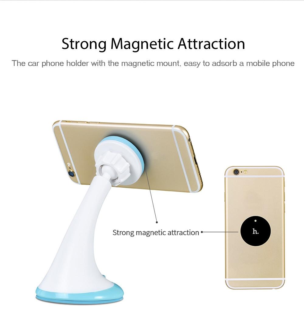 HOCO CA7 Sucking Disc Magnetic Phone Holder Car Mount Bracket 360 Degree Rotation