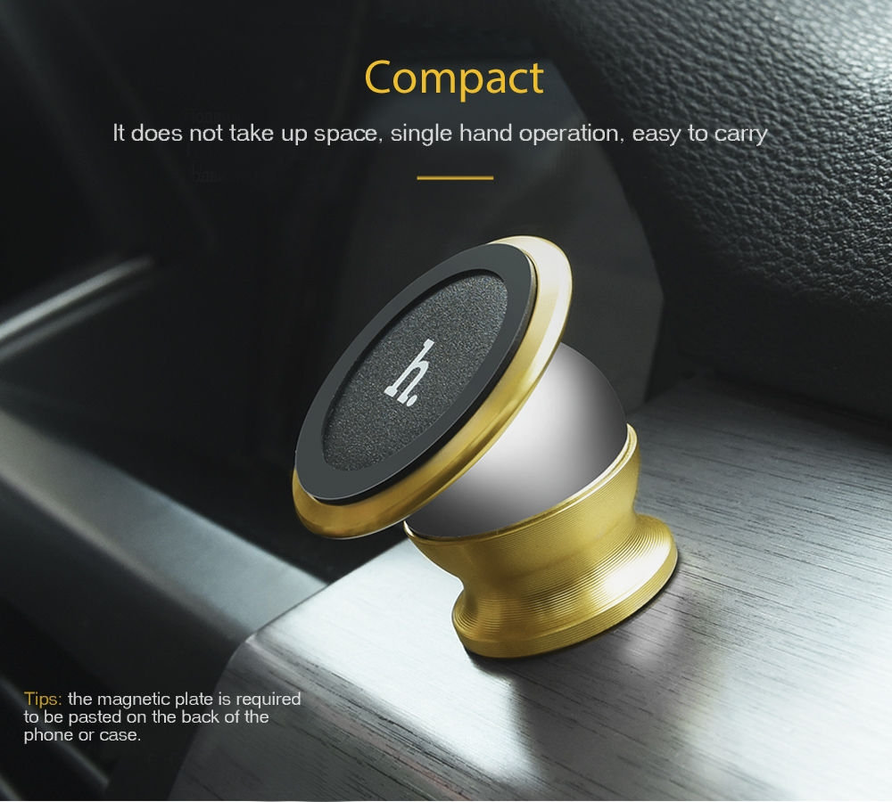 HOCO CA6 Creative Magnetic Car Phone Holder Mount Stand Bracket 360 Degree Rotation Adhesive Type
