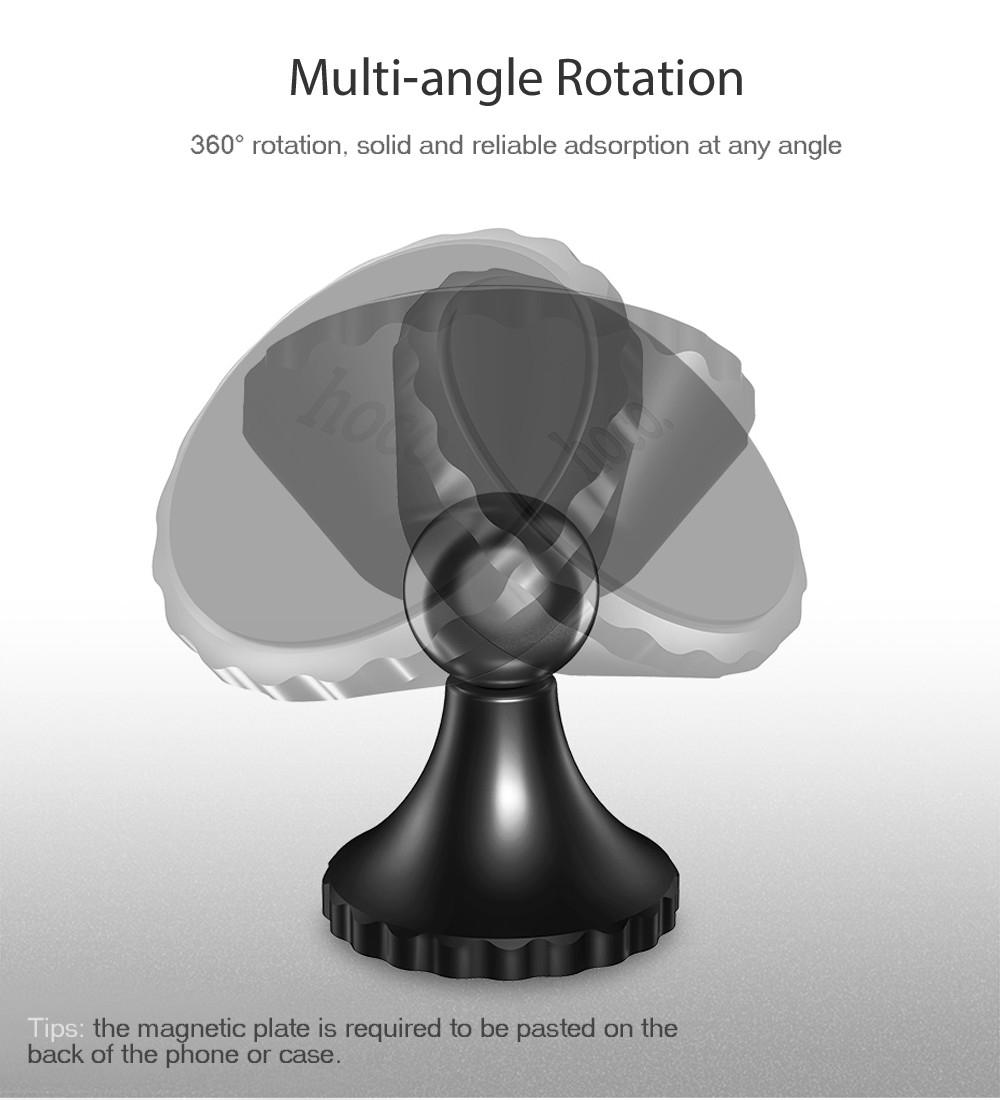 HOCO CA9 Magnetic Car Phone Holder Mount Stand Bracket 360 Degree Rotation Adhesive Type