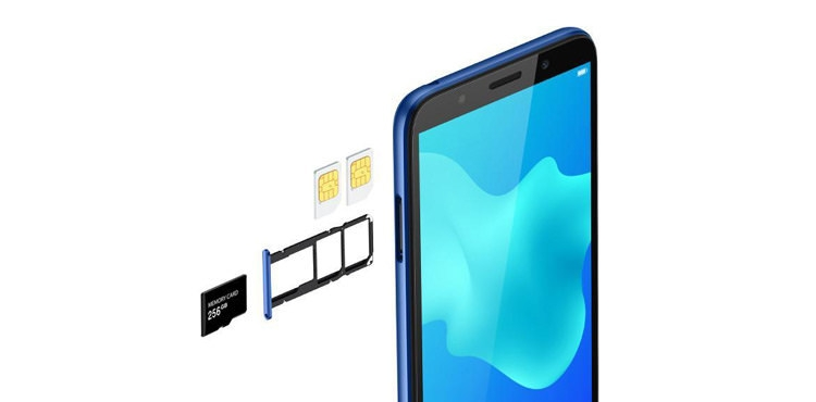 Huawei Y5 Prime (2018) three-card slot design