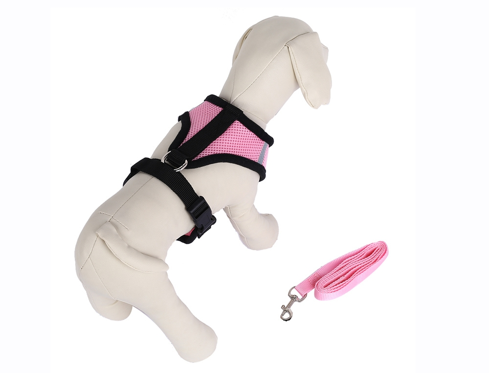 Kimpets Pet Harness Soft Mesh Dog Cat Collar Leash Strap Vest