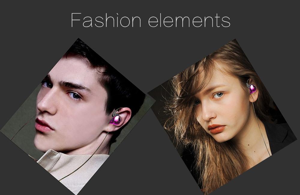 KZ ZST Wired On-cord Control Noise-canceling In-ear Earphones Built-in Mic