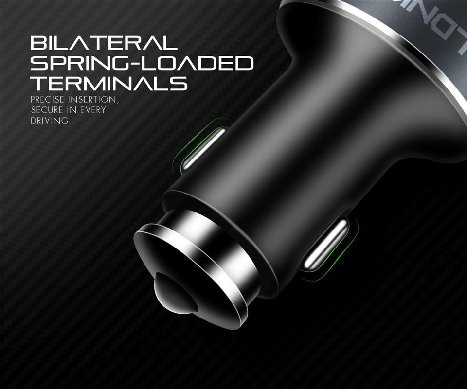 LDNIO C502 5.1A 4 Ports USB Car Charger With Extension Cable For iPhone X 8Plus S8 OnePlus 5 Xiaomi6