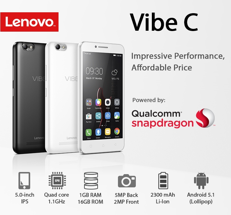"The Lenovo VIBE C will satisfy multimedia mavens and budget-conscious consumers alike. Videos and games are a true joy, thanks to its 5"" display and ..."