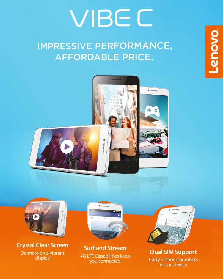 Lenovo Vibe C Features