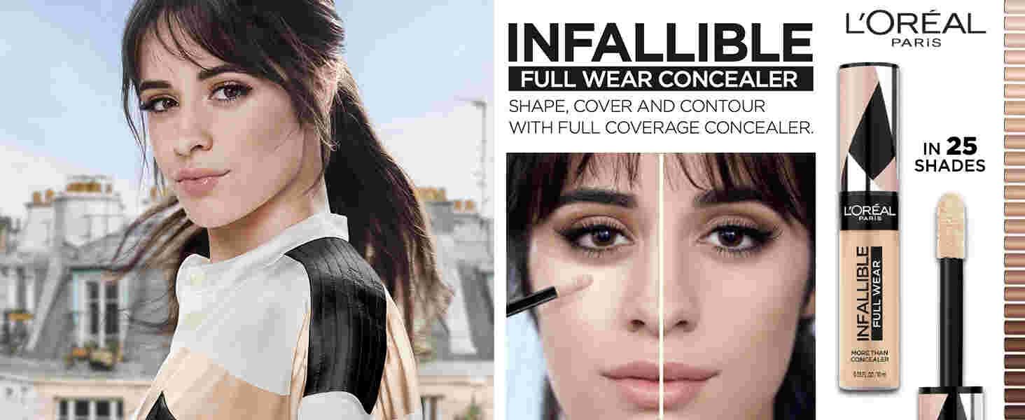 transfer proof concealer, full wear concealer, infallible full wear concealer, noncreasing concealer