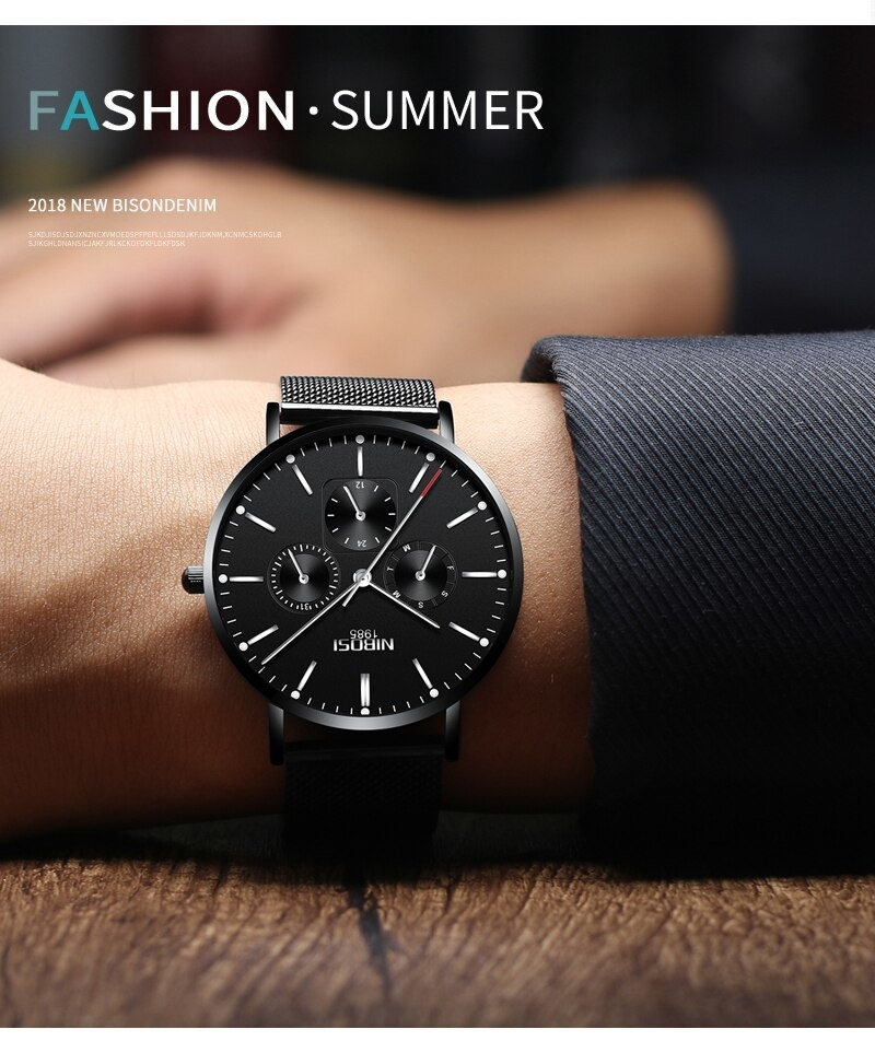 NIBOSI Luxury Brand 2018 Men Watches Ultra Thin Watches For Men Famous Brand Watch With Date men waterproof Relogio Masculino    (14)