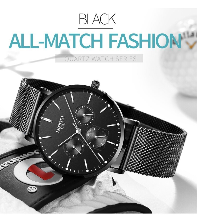NIBOSI Luxury Brand 2018 Men Watches Ultra Thin Watches For Men Famous Brand Watch With Date men waterproof Relogio Masculino    (12)