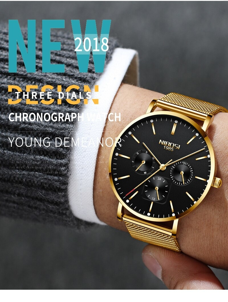 NIBOSI Luxury Brand 2018 Men Watches Ultra Thin Watches For Men Famous Brand Watch With Date men waterproof Relogio Masculino    (6)