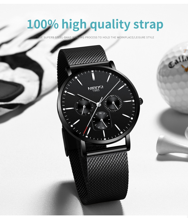 NIBOSI Luxury Brand 2018 Men Watches Ultra Thin Watches For Men Famous Brand Watch With Date men waterproof Relogio Masculino    (13)