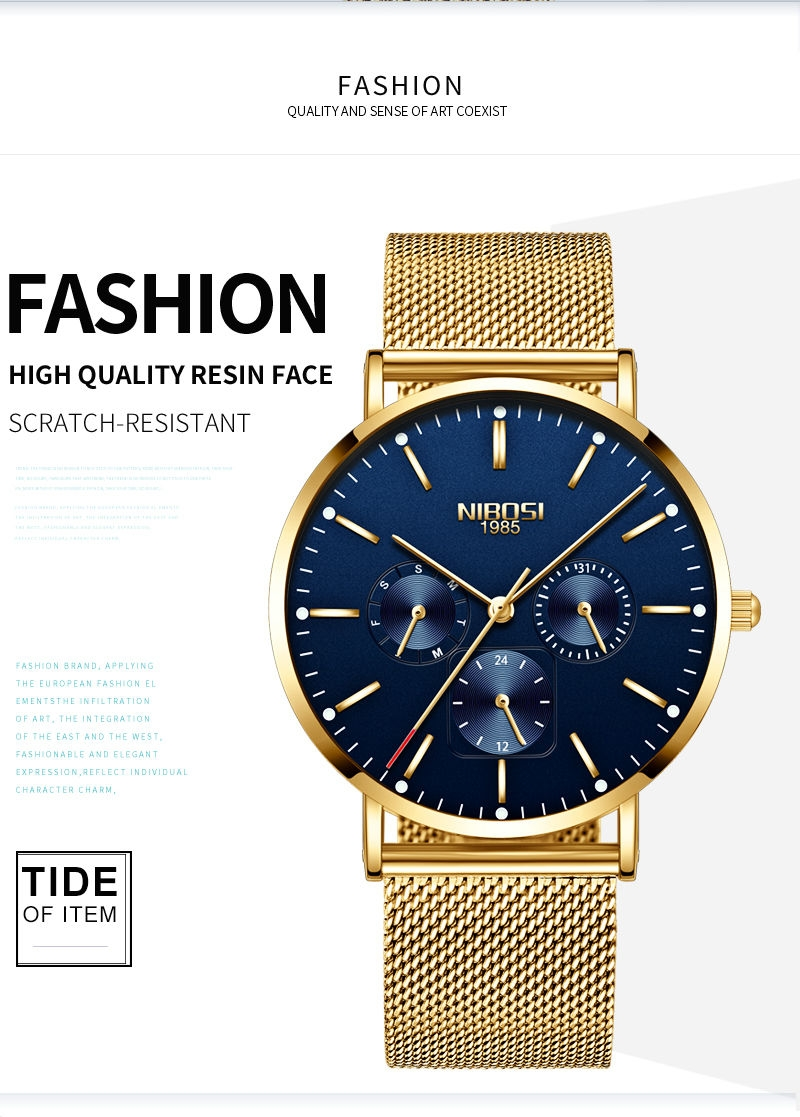 NIBOSI Luxury Brand 2018 Men Watches Ultra Thin Watches For Men Famous Brand Watch With Date men waterproof Relogio Masculino    (2)