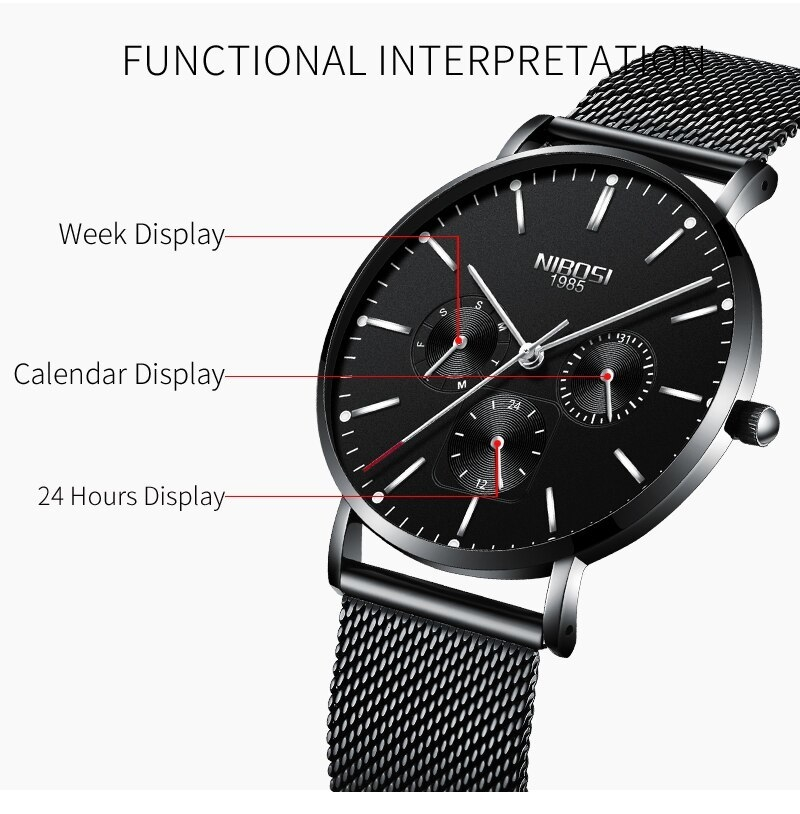 NIBOSI Luxury Brand 2018 Men Watches Ultra Thin Watches For Men Famous Brand Watch With Date men waterproof Relogio Masculino    (9)