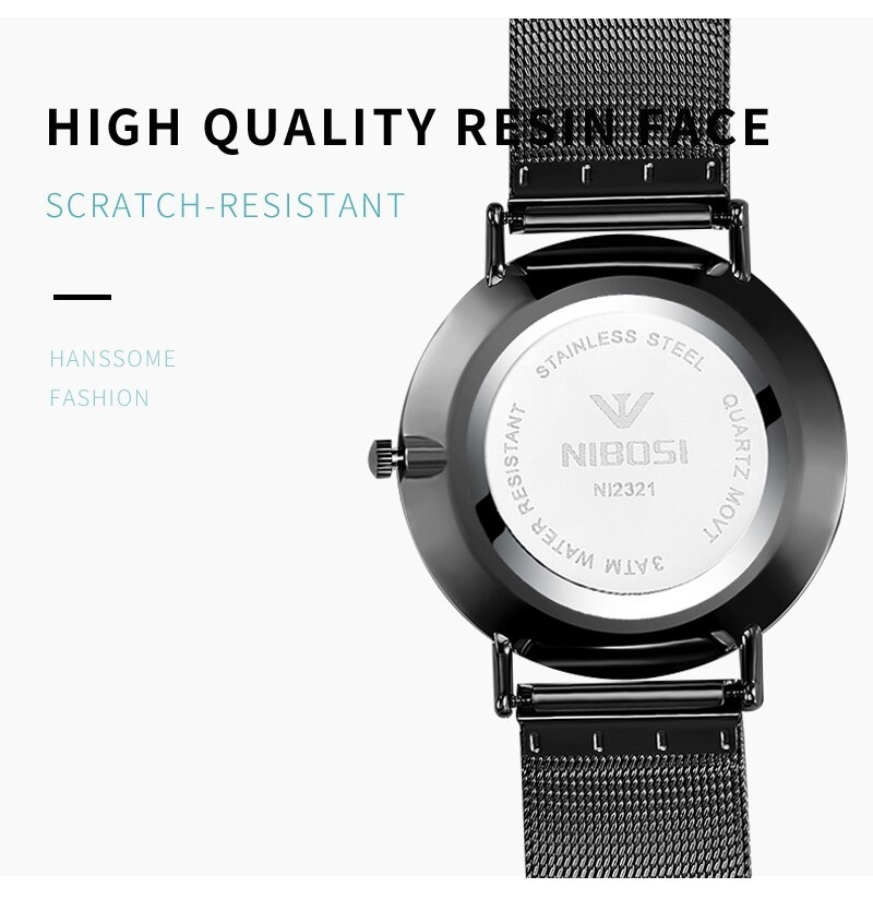 NIBOSI Luxury Brand 2018 Men Watches Ultra Thin Watches For Men Famous Brand Watch With Date men waterproof Relogio Masculino    (10)