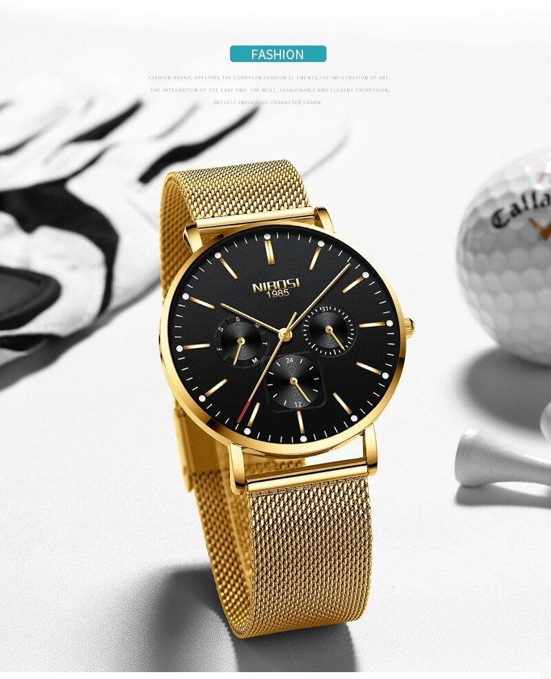 NIBOSI Luxury Brand 2018 Men Watches Ultra Thin Watches For Men Famous Brand Watch With Date men waterproof Relogio Masculino    (5)