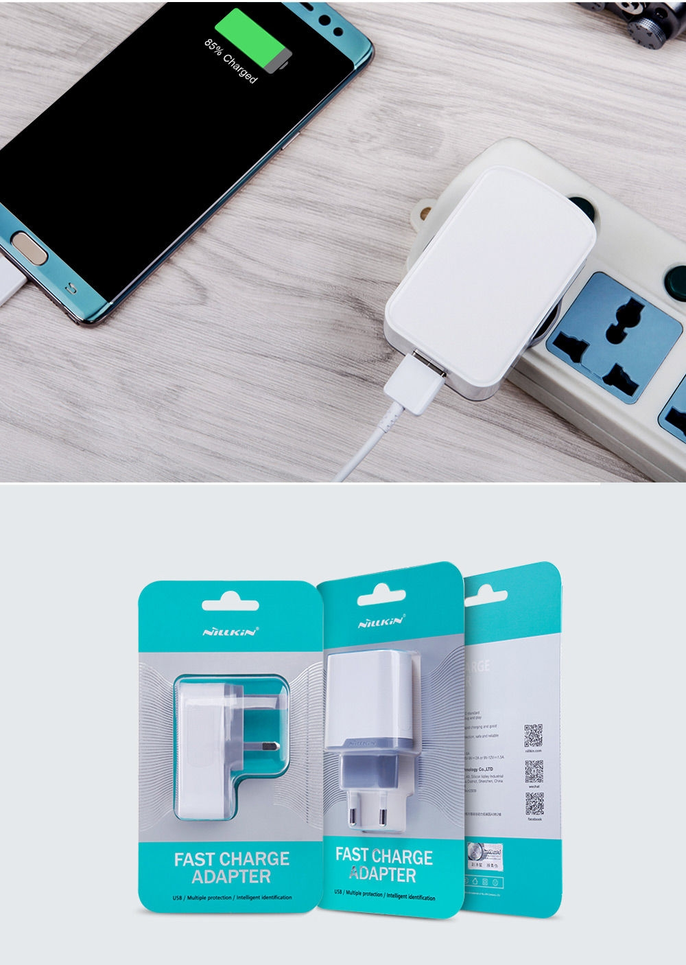NILLKIN QC 3.0 Single USB Output Smart Charging Adapter
