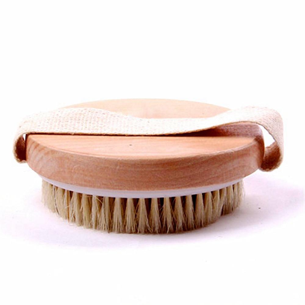 Order Natural Bristle Wooden Bath Shower Body Back Dry Skin