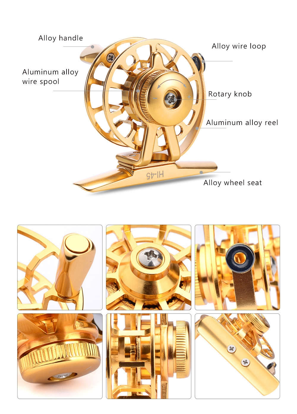 PROBEROS Ultra-light 2 + 1BB Full Metal Stainless Steel CNC Machined Ice Fly Fishing Reel