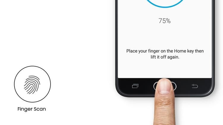 Samsung Galaxy J7 Prime Fingerprint Scan