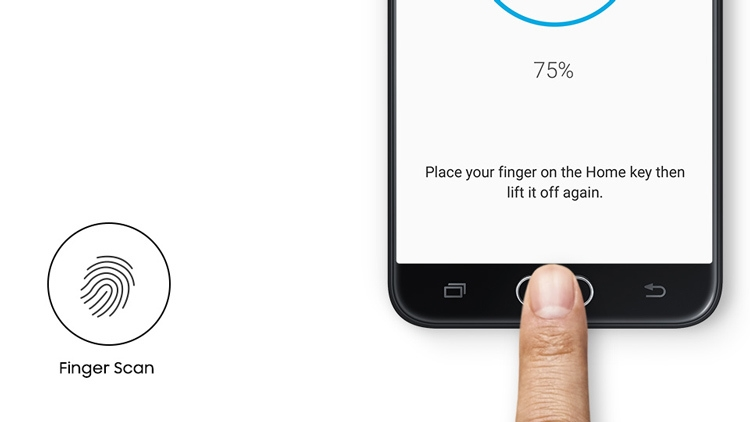Samsung Galaxy J7 Prime Fingerprint Scan