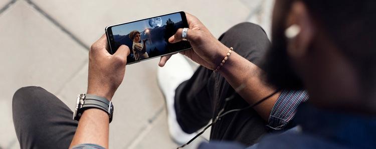 Affichage du Samsung Galaxy A8 (2018)