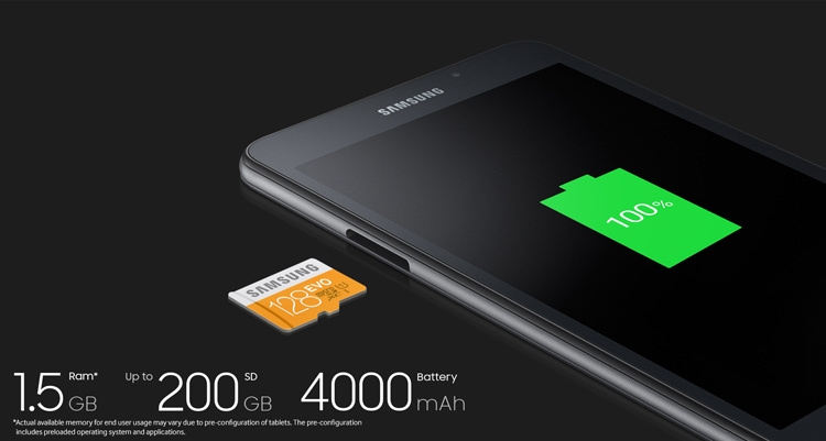 Samsung Galaxy Tab A 7.0 (2016) Storage
