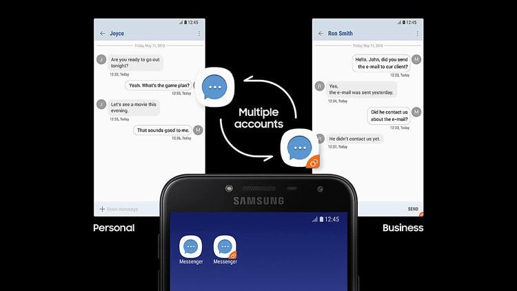 Samsung Galaxy J4 Dual Messenger