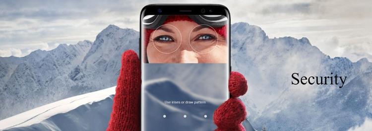 Samsung Galaxy S8+ Iris Scanner