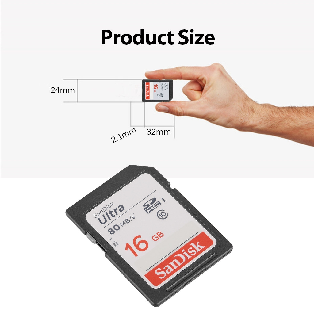 Sandisk 32gb Ultra Class 10 Sdhc Uhs I Memory Card Up To 80mb S 16gb Sdsdunc 1 X Sd