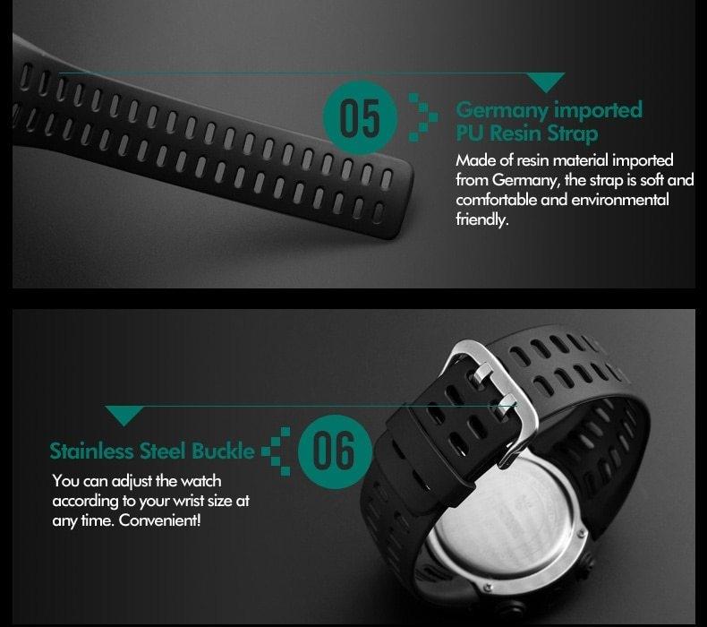 SKMEI Men Watches Sport Watch Electronics Digital LED Quartz Wristwatch Waterproof Women Watches gold 25CM 15