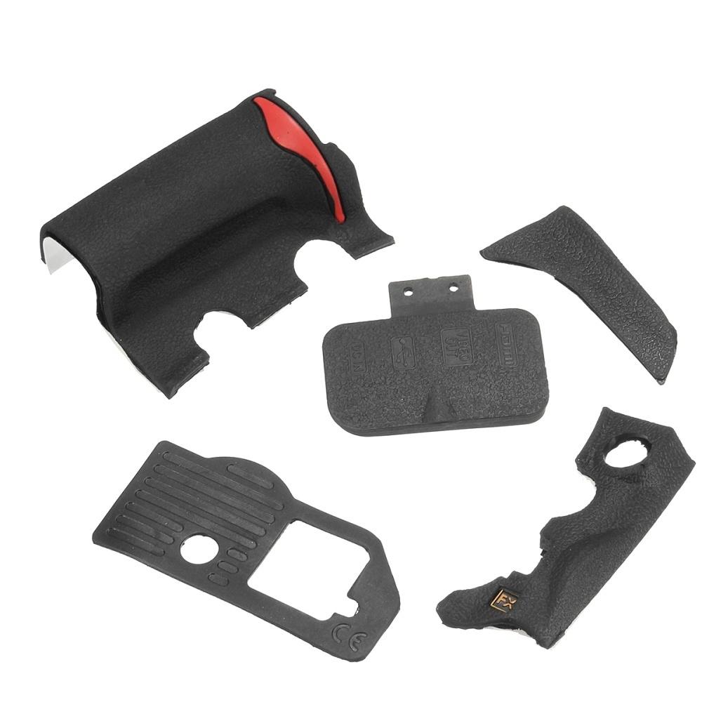Universal 5Pcs Camera Front/rear/ Grip Rubber Set New Repair Parts+