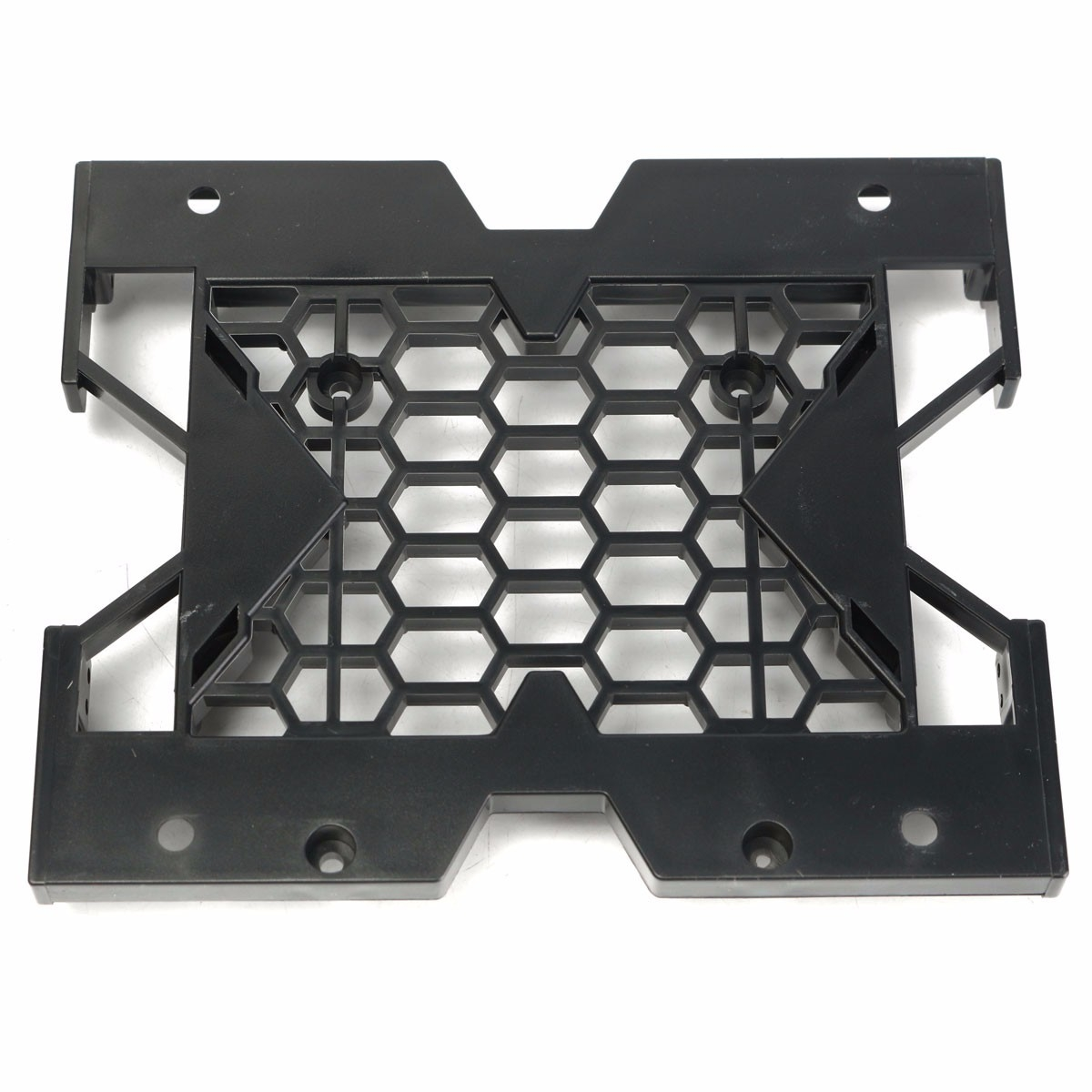 "5.25/"" to 3.5/"" 2.5/"" SSD Hard Drive Tray Cooling Fan Mounting Bracket Plastic"