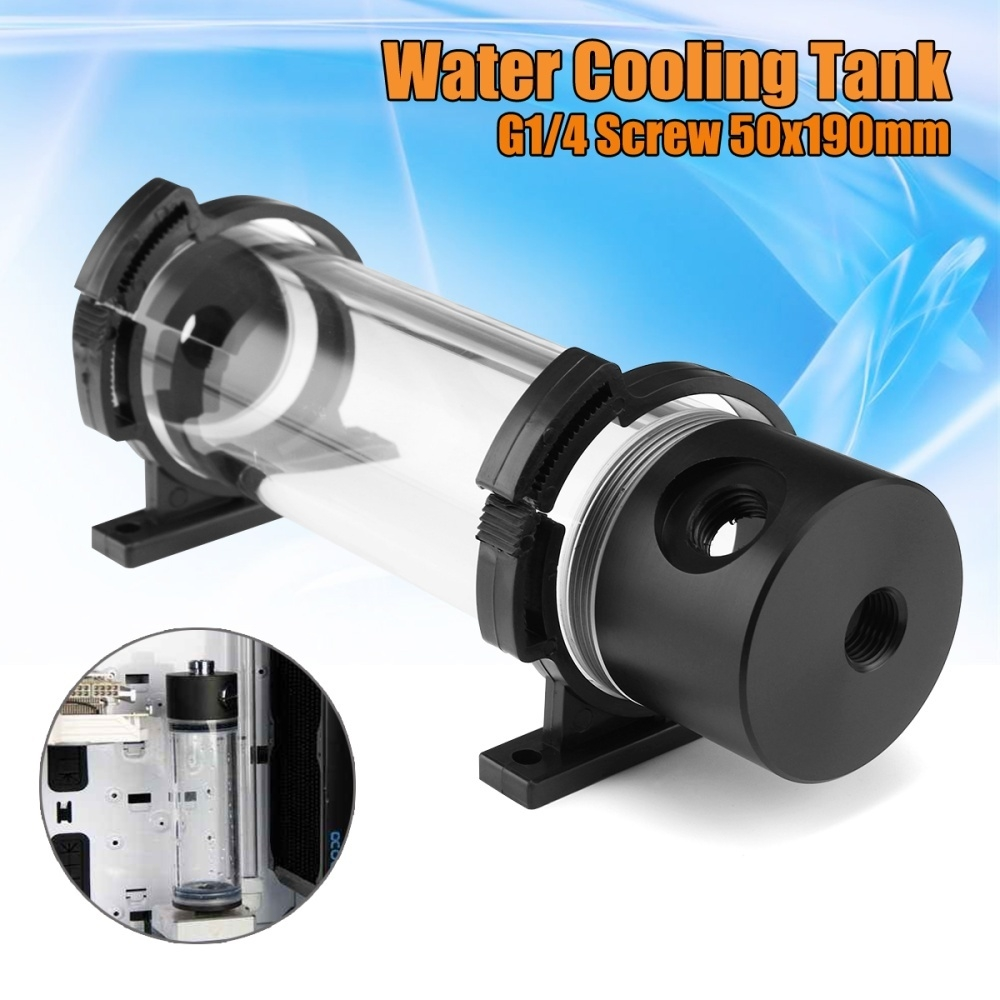 50mm Cylinder Reservoir Water Tank G1//4 For Water Cooling System High Quality