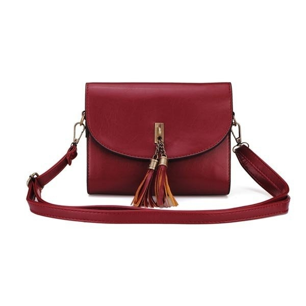 Fashion Women Bag Candy Color Tassel Small Shoulder Bag Cross Body Bag